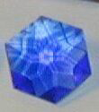 Blue Siberian Quartz Flower of LIfe Crystal