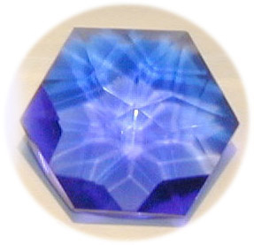 Blue Siberian Crystal Flower of Life