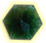 flower of life green crystal