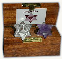 Merkaba Clear & Amethyst Boxed Set