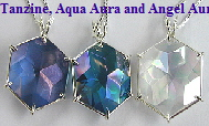 Tanzine Aura Flower of Life Crystal Pendant www.Celestial-Lights.com