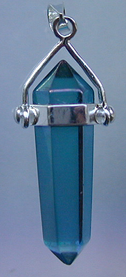 Aqua Aura Double Terminated Pendant - Pranava Energy Activated